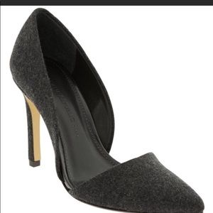 Banana Republic wool Adenia grey pump 7.5
